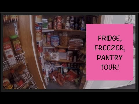 Fridge, Freezer, Pantry Tour!  After Once-A-Month Shopping For Our LARGE FAMILY