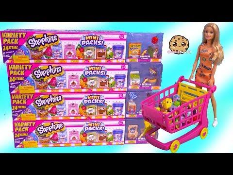 Barbie Shopping Cart of Shopkins Season 10 MEGA 20 Packs Surprise Blind Bags