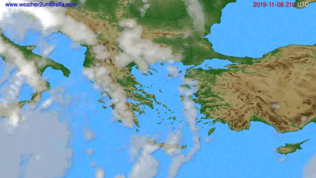 Cloud forecast Greece // modelrun: 00h UTC 2019-11-07