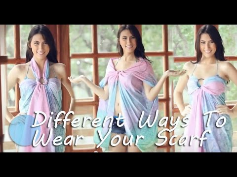 Different Ways To Wear Your Scarf Tutorial