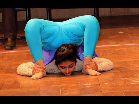 1st Asian Yogasan Sports Championship 2019 Rhythmic Yoga by Puja Patel, Gujarat, (Sports Life TV)
