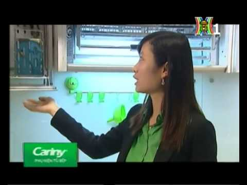 Phụ kiện tủ bếp tủ áo Cariny cùng Vào bếp cuối tuần - Kệ bát đĩa di động