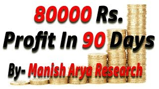 How to make 80000 rs profit in 3 months by manish arya research (Hindi)