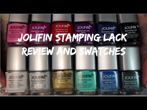 Jolifin Stamping Lack / Polish Review and Swatches - Обзор лаков / красок для стемпинга