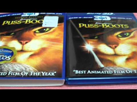 Puss in Boots 3D Bluray/Dvd Unboxing Best Buy 5 dollars off