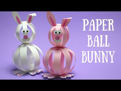 Paper Ball Bunny | Easy Easter Crafts for Kids