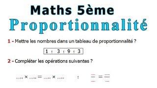 Maths 5ème - La proportionnalité Exercice 7
