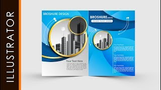 Adobe Illustrator Tutorial Create Business Brochure Two fold #freeDownloads