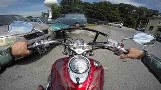 10. 2006 Yamaha V star 1100 custom test drive review