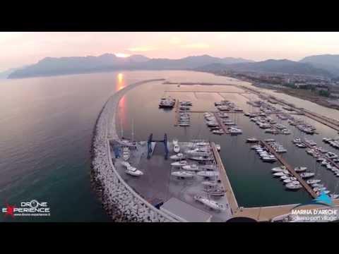 riprese aeree del porto marina d'arechi port village di salerno