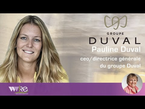 Pauline Duval CEO/Directrice Générale du Groupe Duval Interviewée au Urban Forum 2020 by MIPIM par WWIRE