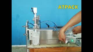 Semi-automatic spout pouch filling machine youtube video