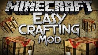 Minecraft Mod Showcase: Easy Crafting Mod - Automatic Crafting Recipes!