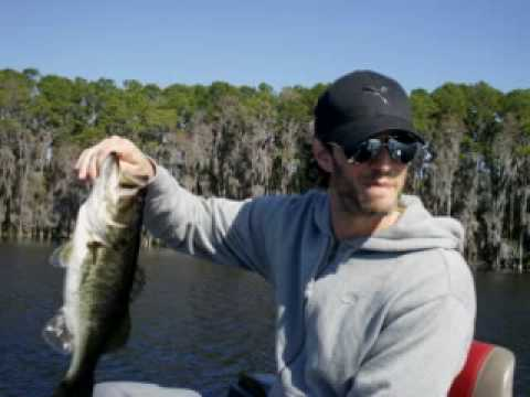 Comedian Josh Wolf bass fishing with Orlando Trophy Bass