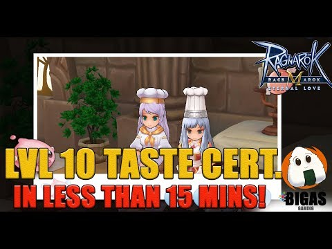 Level 10 Taste Cert In LESS THAN 15 MINS! | Ragnarok Mobile : Eternal Love