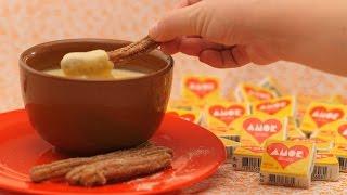 Receita especial Dia dos Namorados - Churros com calda de paçoca Amor