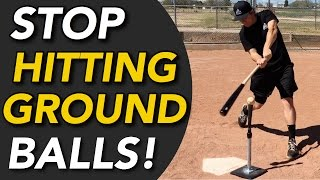 How To STOP Hitting Ground Balls - Hit LINE DRIVES Instead! In today's video, Coach Justin shows you how to stop hitting ground balls and how you can turn th...