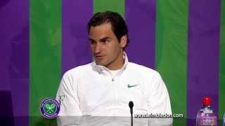 Wimbledon 2012: Roger Federer talks to the media