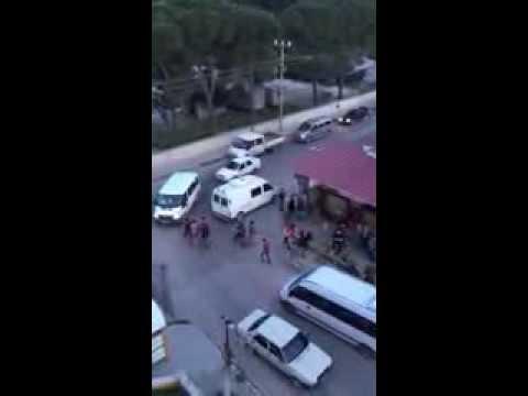 Sokakta park kavgası