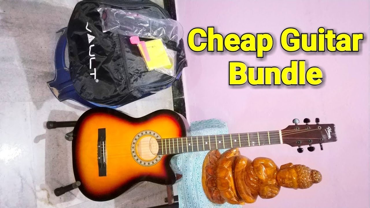Romantic Bollywood Theme on Cheap Acoustic Guitar – Sound Test & Review of Henrix 38C