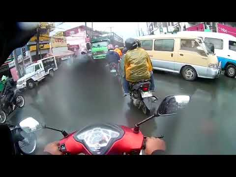 Kymco Super Z-150fi on Wet Ride (Part2) from Tanuan Batangas to Cavite