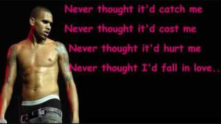 Chris Brown Cry No More Lyrics