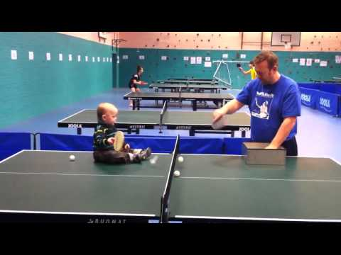 Baby dominates Table Tennis