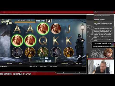 Invisible man - BIG WIN - Illuminati Casino Slot