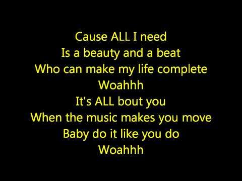 Justin Bieber- Beauty and a Beat Acoustic Lyrics HD