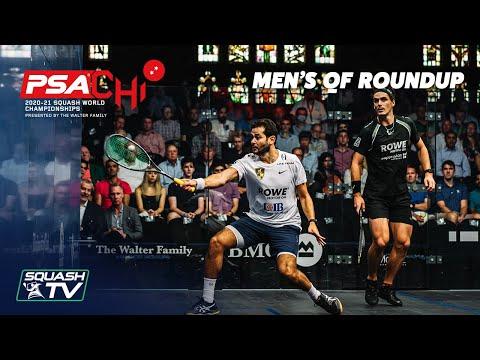 Squash: PSA World Championships 2020-21 - Mens QF Roundup [Pt.2]