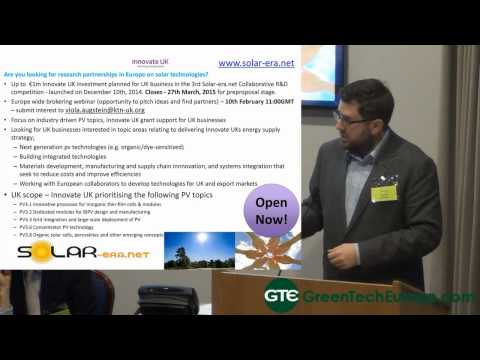 Funding Cleantech Conference -Innovate UK funding