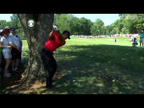 Tiger Woods' incredible second shot on No. 12 at AT&T National