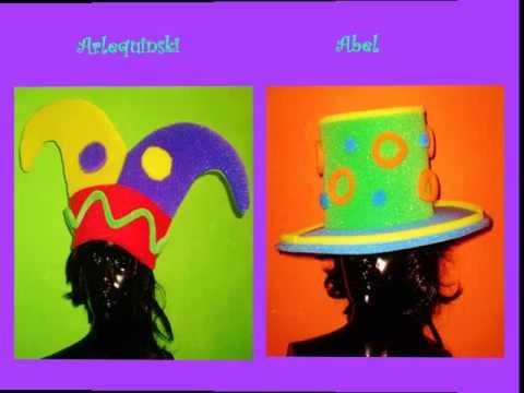 Como Hacer Gorro de Goma Espuma ( peluca ) para Fiesta - YouTube