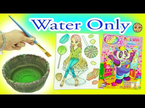 Does It Work Painting Only With Water? Lisa Frank Rainbow Watercolor Paint Book