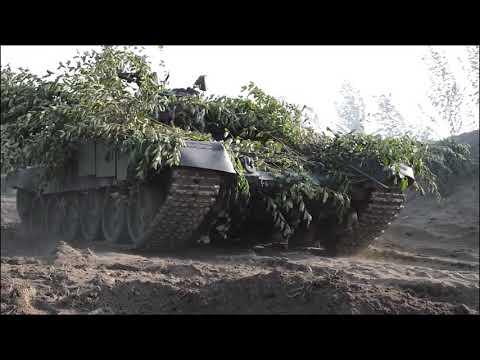 Применение тактического приема «танковый трезубец» в ходе эпизода СКШУ «Кавказ-2020» в Абхазии.