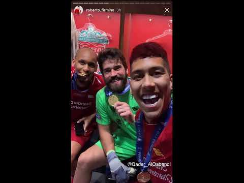 Liverpool's Players Celebrating Winning The Champions League Final 2019