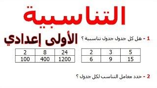الرياضيات الأولى إعدادي - التناسبية تمرين 24
