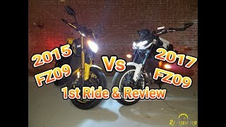9. 2017 FZ09 vs 2015 FZ09 Comparison
