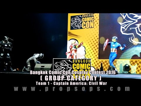 Bangkok Comic Con 2016 Cosplay Contest – Team 1 | Captain America: Civil War