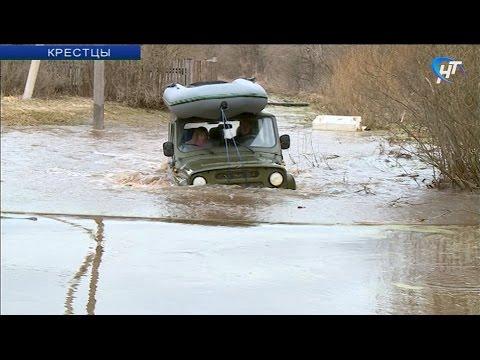 В Крестцы пришла большая вода