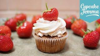 Strawberries and Cream Cupcakes   Cupcake Jemma