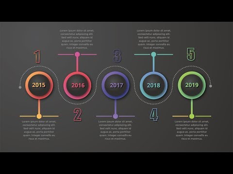 Dark Infographics Timeline  Design Illustrator Tutorial