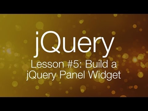 jQuery Tutorial #5 – Building a jQuery Tab Panel Widget