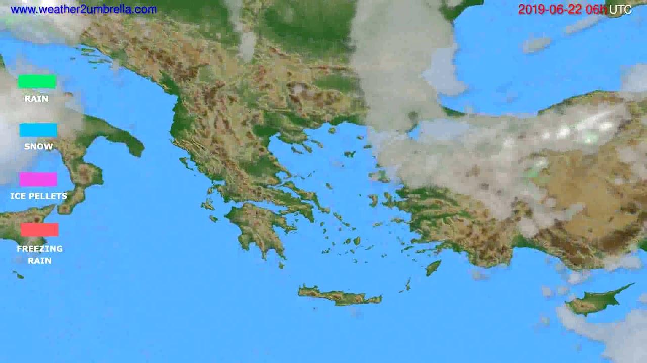 Precipitation forecast Greece // modelrun: 12h UTC 2019-06-19