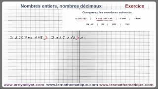 Maths 6ème - Nombres entiers et nombres décimaux Exercice 2