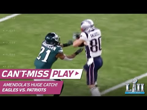 Video: Brady Airs it Out to Amendola for HUGE 3rd Down Conversion! | Can't-Miss Play | Super Bowl LII