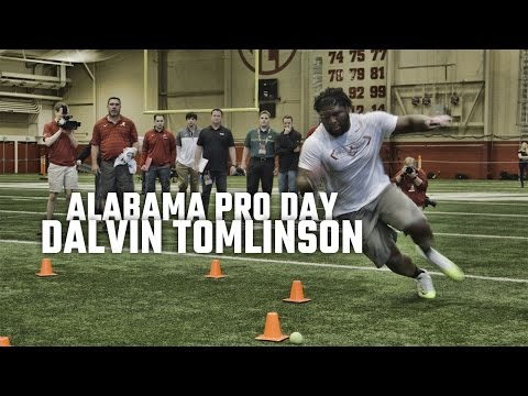 Watch Dalvin Tomlinson at Alabama Pro Day