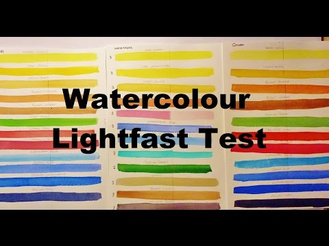 White Nights & Winsor Newton Watercolour Lightfast Test