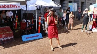 Why Do We Protest Speech by Jodie Emery on Cannabis Day in Vancouver by Pot TV