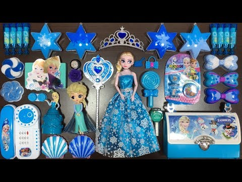 BLUE DISNEY PRINCESS FROZEN Elsa & Anna Slime | Mixing Random Things into Slime | Tom Slime